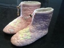 Juicy Couture New & Genuine Girls Pink Bootie Slippers With Logo UK 12, EU 31