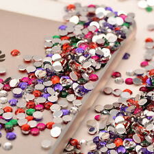 1000PCS DIY 3D Acrylic Nail Art Tips Gems Crystal Rhinestones Women Decoration