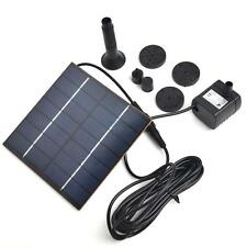 Solar Power Panel Fountain Brushless Water Pump Kit Pool Garden Pond Submersible