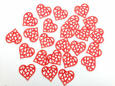 24 Edible Large Red Hearts Pre Cut Wafer Cupcake Toppers