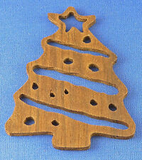 Decorated Christmas Tree Ornament - hand cut