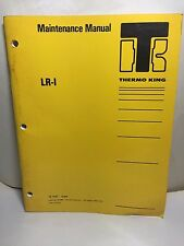 Thermo King TK 7787 Maintenance Manual LR-I 64 PAGES
