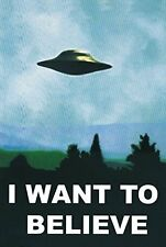 The X-Files I Want To Believe TV Poster Print (24x36) NEW POSTER UFO xfiles