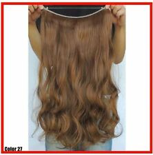 "MED GOLDEN BROWN #27 HALO STYLE FLIPIN STYL HAIR EXTENSIONS 20"" PRINCESS TRESSES"