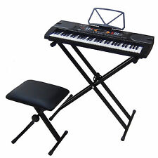 Clavier DynaSun MK2085 USB LCD 61 Touches Piano Keyboard Enseignement Stand Banc