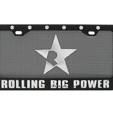 RBP-121 RBP Rolling Big Power Logo Universal License Plate Frame + Cover Combo