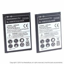 2 Replacement Batteries for LG V10 H900 H901 VS990H961 F600 H968 BL-45B1F