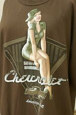 Chevrolet Size XL T- Shirt by Tennessee River Military Retro Pin Up Girl