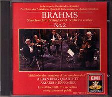 ALBAN BERG QUARTETT & AMADEUS QT: BRAHMS String Sextet No.2 CD Streichsextett