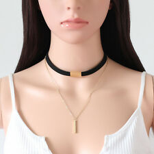 Sexy Fashion Lace Up Choker Punk Gothic Vintage Velvet Leather Necklace Jewelry