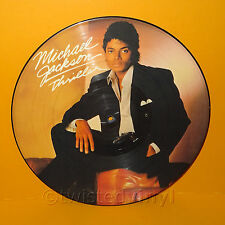 "1983 EPIC MICHAEL JACKSON - THRILLER UK 12"" LP ALBUM PICTURE DISC VINYL RECORD"