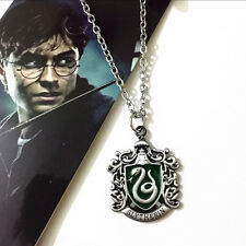 2016 New cosplay Movie Harry Potter Slytherin Metal Necklace  gift hl1
