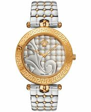 Versace Women's VK7230015 Vanitas 2016 Collection Two Tone Quilted Effect Watch