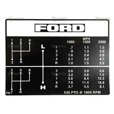 Ford Tractor Shift Pattern Decal 8-Speed 4000 4100 4600