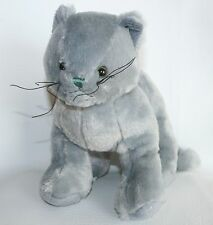 GANZ Webkinz  Plush CHARCOAL CAT Kitten Stuffed Toy Animal Lovey No Code
