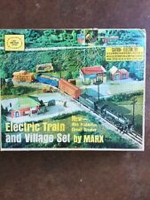 Electric Train And Village Set By Marx, 4361
