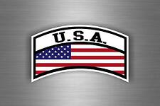 Sticker car auto moto aviation military army flag usa american united states