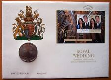 ROYAL WEDDING LIMITED EDITION GOLD STAMPED STAMP & COIN  PNC COVER