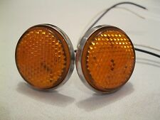 1956 & 1951-1952 Chevrolet AMBER LED Tail Light Reflector Replacement 1-Pair.