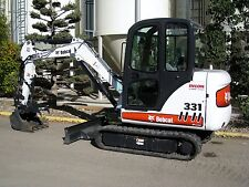 BOBCAT 325 328 331 331E 334 EXCAVATOR OWNER USER OPERATION & MAINTENANCE MANUAL
