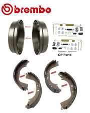 2-Brembo 21080 Rear Brake Drums & Enduro Shoe & Hardware kit Toyota 4Runner P/U
