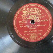 78rpm BEN JOHNSON my fiddle is my sweetheart / the blind boy