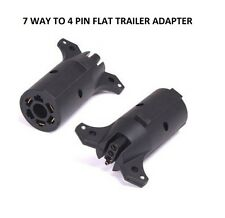 7 Way Round to 4 Pin Flat Trailer Lights Towing Adapter RV7 Boat Camper Hummer