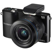 Samsung NX1000 Mirrorless Wi-Fi Digital Camera 20-50mm Lens Black 20.3MP