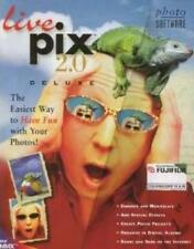 Live Pix 2.0 Deluxe w/ Manual PC CD cloning retouch digital photo image picture!