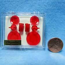 Dollhouse Miniature Chrynsbon Dish & Cup Set in REd - CHR129R