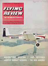 FLYING REVIEW INTERNATIONAL MAGAZINE 1966 OCT THE RED ARROWS, SPITFIRE