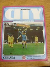 26/11/1977 Manchester City v Chelsea  . Condition: We aspire to inspect all of o