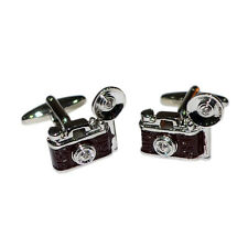 Camera with Flash Bulb CUFFLINKS Photographer Club Paparazzi BIRTHDAY PRESENT