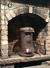 Woodburning Stove Cylindrical Cast Iron for Workshop Man-Hut Boat Yurt Cooking