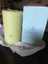 """Partylite Pillar Candle 3"""" x 5"""" BAMBOO MIST NEW spring green RETIRED"""