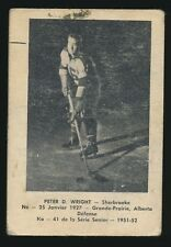 1951-52 Laval Dairy (QSHL) #41 Peter D. Wright (Sherbrooke)