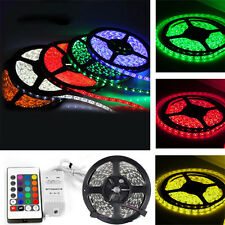 5M 5050 RGB 300 LED Non-Waterproof  SMD Flexible Light Strip DC12V +24key Remote