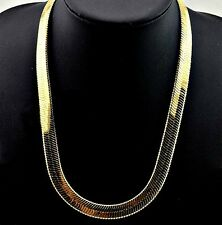 "MONSTER PVD BONDED 18k GOLD MEN'S & WOMAN'S 11mm- 30"" HERRINGBONE CHAIN Necklace"