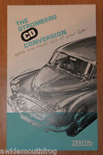 Zenith Stromberg CD Carb Conversion Sales Leaflet
