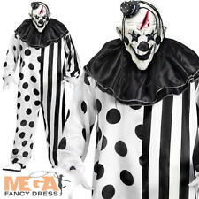 Deluxe Assassino Clown adulti HALLOWEEN FANCY DRESS Mens Circo Costume Horror Nuovo