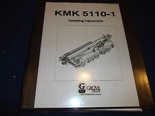 GROVE KMK 5110-1 CRANE OPERATION OPERATING CATALOG BOOK MANUAL