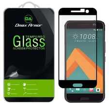 Dmax Armor® Tempered Glass Screen Protector Saver For HTC 10 (Black Color)