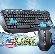 Gaming Wireless 2.4G Keyboard and Mouse Set to Computer Multimedia Gamer NICE US