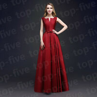 New Style Satin Wedding Bridesmaid Prom Evening Dress SIze 6.8.10.12.14.16.18+