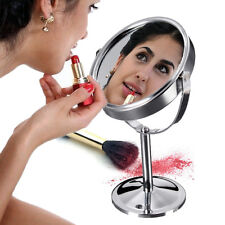 A&C Double Sided Round Table Magnifying Mirror Cosmetic Makeup Shaving Swivel SK