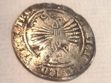 Early 1500's -Half Reale Silver Coin -Genuine Spanish Colonial Coin Currency V18