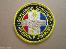 Florida Friendship Jamboree 1975 Woven Cloth Patch Badge Boy Scouts Scouting