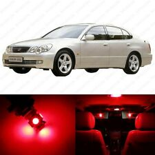 11 x Red LED Interior Lights Package For 1998 - 2005 Lexus GS300 GS400 GS430