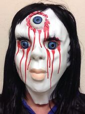 Scary Dead Horror China Doll Halloween Mask Blood Latex Full Head Fancy Dress