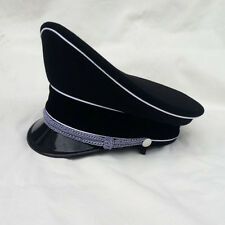 WWII WW2 German Elite Officer Wool Hat Officer Visor Cap Black 58~60 CM